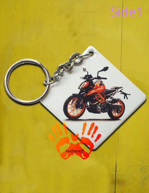 bhutan square key chain